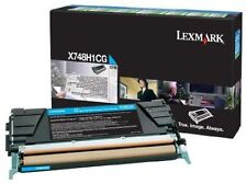 Lexmark Genuine/Original Toner Cartridge X748H1CG Cyan Colour X748 *CLEARANCE*