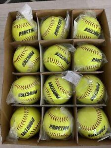 Youth Softball Practice Balls. 12 In. DOZEN. Brand New! $69 Retail.