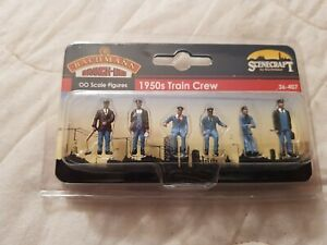 A Model Railway Pkt Of Train Crew In  Ho Gauge By Bachmann Boxed