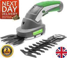 More details for 2-in-1 garden electric cordless grass shears & hedge trimmer hand held 3.6v