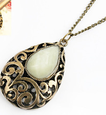 Necklace - New elegant long black & bronzy gold water drop pendant and necklace