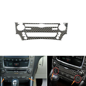 Carbon Fiber Console CD Panel Sticker Trim Cover For LEXUS IS250 300 350 2006-12