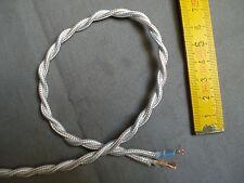 1,5 m fil torsadé gainé tissu blanc 2 brins câble électrique