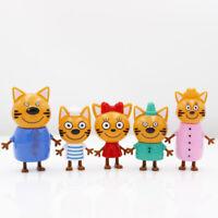 KID E CATS DOLCI GATTINI 5 PERSONAGGI CARTONE ANIMATO BAMBINO BAMBINA GATTI NEW