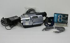 Vtg Sony Handycam TRV350 Bundle New 8mm GX-MP Tape 700x Digital 8 Zoom Camcorder
