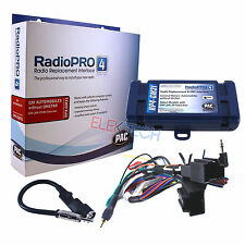 Radio Replacement Interface w/Steering Wheel Control Retention & Antenna for GM