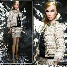kissadoll doll clothes fr2 poppy parker Fashion Royalty Beige Chanel suit skirt