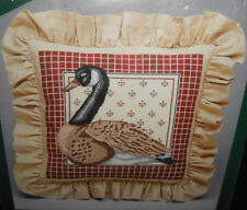 Vtg Michael LeClair CANADA GOOSE PILLOW Cross Stitch Kit Elsa Williams Wool 14""