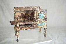 RARE Antique Cast Iron Toy Stove -Blue Hubley Eagle Gas Stove-Pat June 1-26-AAFA