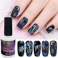 15ml Nail Art Glue for Foil Sticker Nail Transfer Tips Adhesive Star Starry Nail