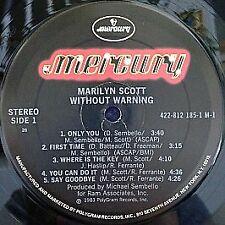Marilyn Scott - Without Warning! - Mercury - 1983 #753883