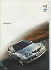 CAR BROCHURE: MAZDA 323 BROCHURE - 2001 (INCLUDES i/LXi/GXi/Sport)