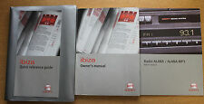 SEAT IBIZA HANDBOOK OWNERS MANUAL WALLET 2002-2006 PACK 14865