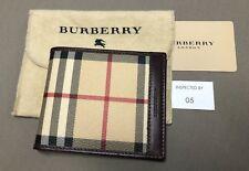 Burberry Men's ID Wallet Haymarket Classic Check / Brown NEW!