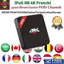 Arabic IPTV Box 4500+channels world TV free 4K HD french Europe Free For Life!
