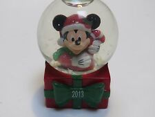 Disney Collectible Snow Globe 2013 JCPenney Mickey Mouse Christmas
