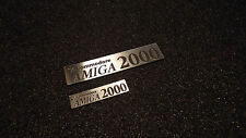 Amiga 2000 Label / Aufkleber / Sticker / Badge / Logo Silver 90mm x 20mm [250]
