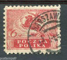 POLOGNE, 1920, timbre 215, CHEVAL, SYMBOLE HEROISME, oblitéré