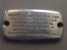 NOS Honda OEM Chrome Master Cylinder Cap Part # 08F81-MBY-1A0F
