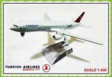 16 CM BOEING 777 TURKISH AIRLINES AEROPLANE METAL PLANE MODELS TURKEY  JET  TOYS