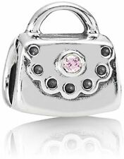 NEW Authentic Pandora Sterling Silver Pink CZ Purse Bead 790309PCZ *RETIRED*