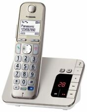 Panasonic KX-TGE220GN Single champagner mit AB, NEU, OVP, Telefonbuch, HAC