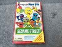 Colorforms Sesame Street, 1992, 21 Pieces, In Box, Very Good Condition.