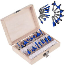 "15PC 1/4"" Inch Professional Shank Tungsten Carbide Router Bit Set"