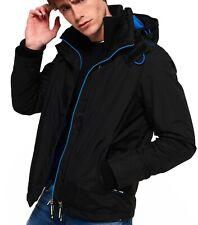 Superdry Mens Popzip Arctic Hooded Wind Cheater Multi Zip Up Jacket Coat Black