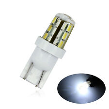 2X Xenon Super White 24-SMD T10 168 194 2825 LED Bulbs Car License Plate Lights