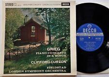 """SWL 8012 Grieg Piano Concerto In A  Minor - Curzon 10"""" LP Decca ED1 Stereo EX"""