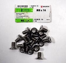 10 x Zylinderschrauben M8x45 Innensechskant A2 DIN 912 A2 Edelstahl Imbus Würth