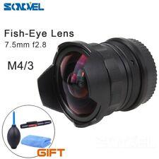 7.5mm f2.8 Fish eye Lens M43 MOUNT for Olympus E-M1 E-M5 PANAS0NIC G5 G6 GH1