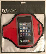 Aduro U-BAND Reflective Armband for Apple iPhone 5 Red New