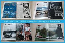 Audi 100 C2 mit 115PS Literaturpaket - 9 komplette Zeitschriften