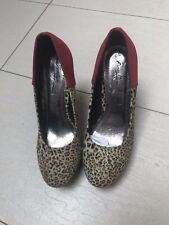 Brand New Leopard Print High Heels Size 5 Party Red