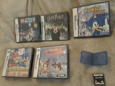 Wholesale Lot of Nintendo DS games 6 Games Mario sonic Marvel Harry Potter