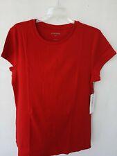 Liz Claiborne Size XLT Women Red Top T-shirt Cotton