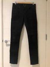 SAINT LAURENT PARIS SKINNY JEANS IN BLACK STRETCH DENIM 32