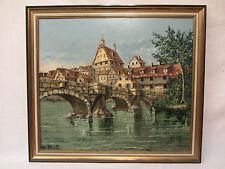 Altes Ölbild Künstler Costantino Proietto / Leinwand / originalsigniert