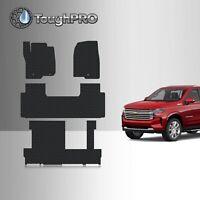 ToughPRO Floor Mats + 3rd Row Black For Chevrolet Suburban 2nd Row Bench 2021