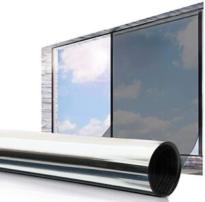 Window Foil Blackout One Way Privacy Heat Reducing Glue Adhesive Tint Film