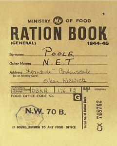 Ration Book nostalgic Steel Sign 200mm x 150mm (hb) REDUCED!!