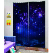 3D Starry Sky Blackout Curtain Printing Curtains Drapes for Bedroom