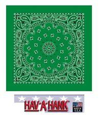 Fabriqué aux USA Hav-A-Hank Vert Kelly Paisley Bandana Écharpe Scarve Tête
