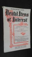 Revista Dental Items de Interes N º 10 October 1927 ABE