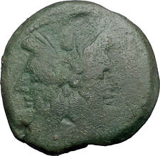 Roman Republic Anonymous 179BC Janus Galley Ship Ancient Roman Coin i48785