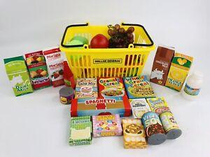Dollar General Yellow Basket Kitchen Plastic Play Food Set