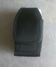 Rugged Durable Nylon Pouch Case Both Metal Clip & Belt Loop for Sanyo Taho