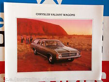 GENUINE CHRYSLER VALIANT VK STATION WAGON SALES BROCHURE NOS PERFECT MINT